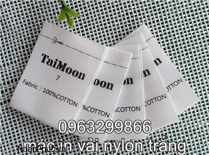Mẫu tem nhãn mác vải giấy nylon