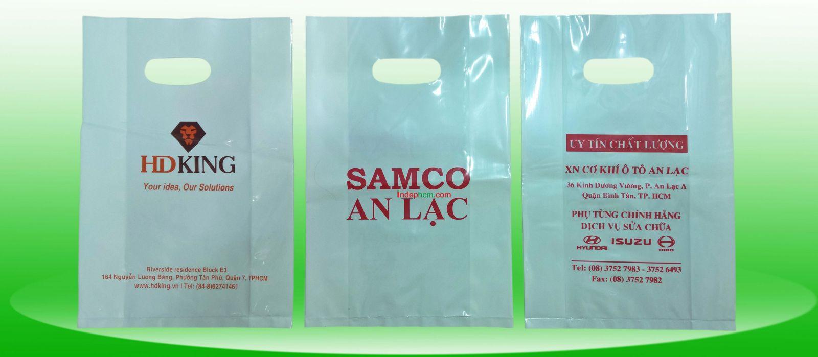 Nhân Phúc in và sản xuất túi nylon HDPE trắng sứ đựng hàng các loại
