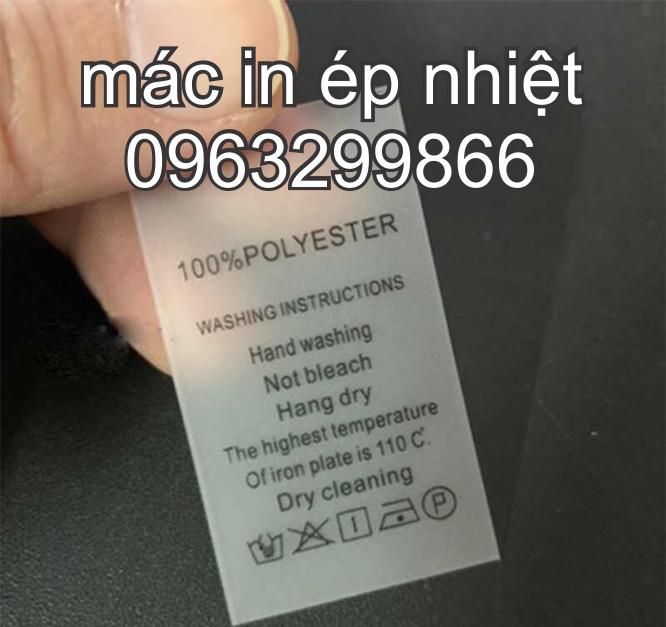 Tem nhãn mác in ép chuyển nhiệt ở tại Sơn Tây Phúc Thọ Hà Nội
