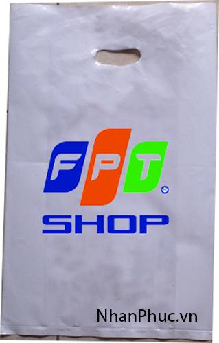 in túi ny lông PE sứ đục dùng cho shop điện thoại