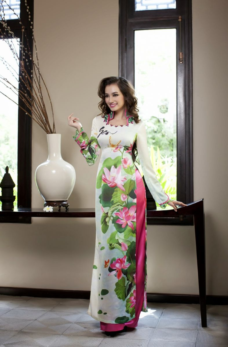 in áo dài truyền thống dân tộc cổ điển hiện đại cách tân đẹp nhất tại hà nội 1