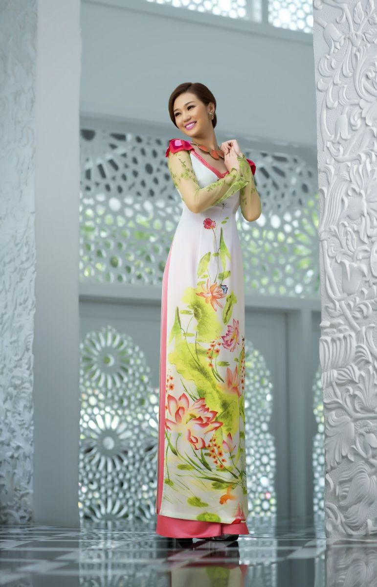 in áo dài truyền thống dân tộc cổ điển hiện đại cách tân đẹp nhất tại hà nội 3