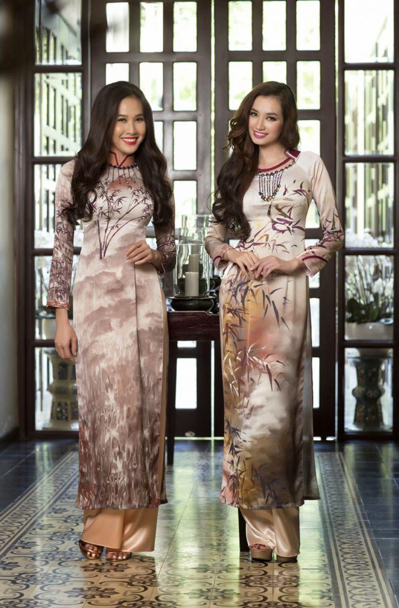 in áo dài đẹp cho cửa hàng thời trang cao cấp