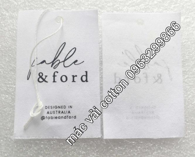 Nhân Phúc 0963299866 thiết kế in sản xuất tem nhãn mác vải cotton màu trắng kem rẻ đẹp ở hà nội cầu giấy tây hồ đống đa hai bà trưng