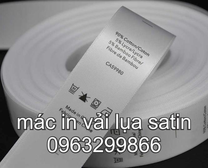Nhân Phúc 0963299866 thiết kế in sản xuất tem nhãn mác vải lụa satin màu đen trắng rẻ đẹp ở hoàng mai hà đông long biên ba đình