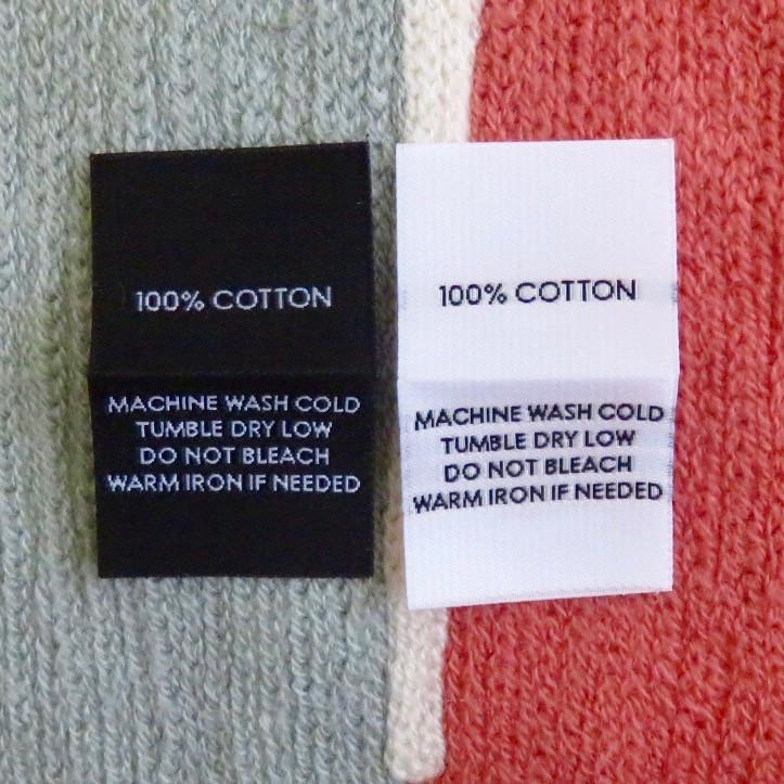 Nhân Phúc in dệt nhãn mác thành phần 100% Cotton giặt là đính sườn